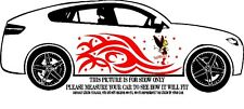 TINKERBELL DECAL GRAPHIC VINYL w TRIBAL DESIGN FOR SIDE OF CAR OR TRUCK