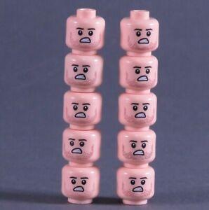 10 Custom Köpfe tan hautfarbe für LEGO® Figuren Polizist Soldat Swat City (21)
