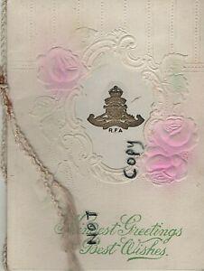 Military Xmas Greetings Card 1918 A Bty 104th Army Bde Royal Field Artillery