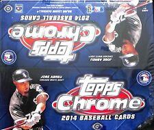 "2014 Topps Chrome Baseball Jumbo Sealed Hobby Box ""Damaged"""