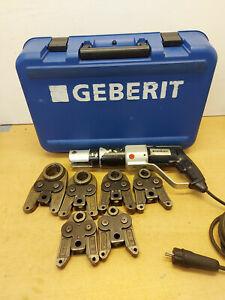 Geberit PWH 40 Pressmaschine Presszange 6 x Mepla Pressbacke Presswerkzeug