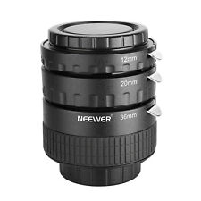 Neewer 12mm/20mm/36mm AF Auto Focus ABS Extension Tubes Set for Nikon D7200