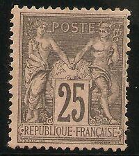 FRANCIA Yvert 97** Mnh 25 Céntimos negro rosa  Sage Tipo II  1886  NL971