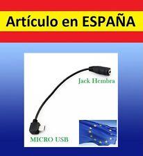 Cable adaptador jack 3.5mm hembra MICRO USB audio cascos auriculares AUXILIAR