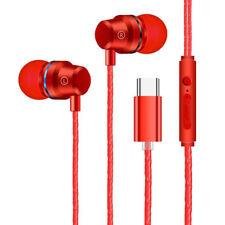 USB tipo C en la oreja Auriculares intraurales Control De Cable Auriculares para XIAOMI 8 Huawei P20