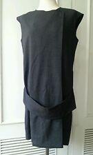 D Donna Karan high-end defunct line gray mini shift dress tunic victoria beckham