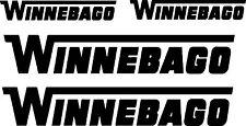 Winnebago 4 pc Camper RV Vinyl Decal Sticker Camper Graphics Stickers 4pc