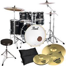Pearl Export EXX725SZ/C31 Black Schlagzeug + Sabian Becken + KEEPDRUM Hocker