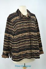 CWC Coldwater Creek Jacket blazer light coat top jungle animal chenille SZ PXL