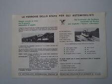 advertising Pubblicità 1963 FERROVIE DELLO STATO TRAGHETTI