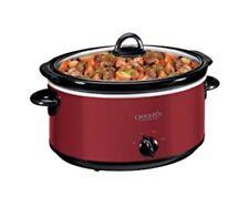 Crock-Pot 5.7 Litre Red Slow Cooker Removable Ceramic Bowl Keep Warm CSC029