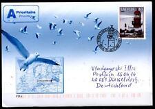 Leuchtturm von von Liepaja (Libau). FDC-Brief nach BRD. Lettland 2009
