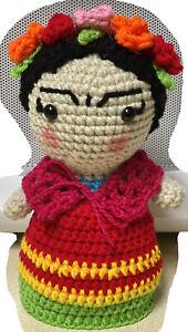 Frida doll Crochet Amigurumi Handmade New Stuffed toy Collectible