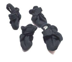 Petrageous Designs Fleece Dog Boots Black - Medium