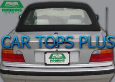 "1994-99 BMW E-36 Convertible Top & Plastic Window ""Robbins"" Black Stayfast Cloth"