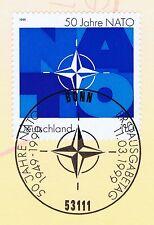 BRD 1999: NATO 50 Jahre! Nr. 2039 mit Bonner Ersttagssonderstempel! 1A! 1711