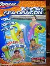 BANZAI TWISTY TUBE SEA DRAGON INFLATABLE POOL WATER TOY, PLAY GAMES NEW