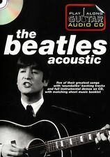 Play Along Guitar The Beatles Acoustic Learn to Play Jam TAB Music Book & CD
