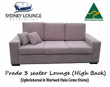 AUSTRALIAN MADE Prado High Back (Warwick Como) 3 seater Sofa Lounge Couch