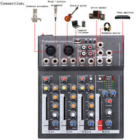 4-Channel Professional Line Mixing Live Audio Studio Sound Mixer Console  @