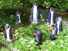 Naive Kunst : Pinguin - Familie;  Beton; sign. W. Dahmen ; garantiert ORIGINAL