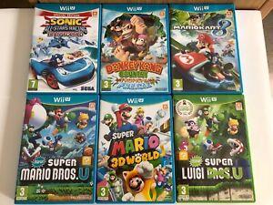 6 games bundle for Nintendo Wii U: Mariokart 8,Super Mario 3D World etc