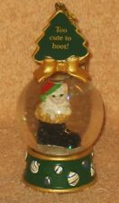 "Danbury Mint Cat Water Globe Ornament "" Too Cute To Boot """