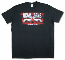 Rival Sons Wolves Hollow Bones World Tour 2016 Black T Shirt New Official Band