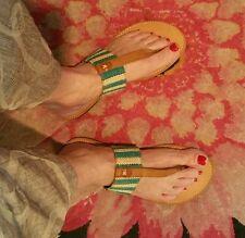 Pink & Pepper Blue/Tan Woven Sandal