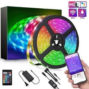 10M AMill LED Strip Light RGB SMD 5050 Waterproof WiFi Flexible Lamp With Remote
