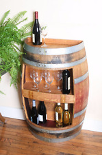 Wine Barrel Wall Cabinet, oak, Holds 20 Bottles Of Wine By Wine Barrel Creations