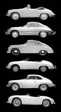 Leinwand Bild Porsche 911 Silber Cabriolet Star Design