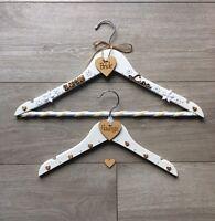 wedding hangers personalised bride bridesmaid maid of honour flowergirl groom
