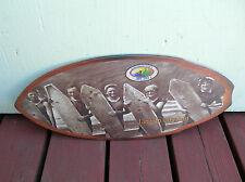 lincoln city surf shop wooden mini surfboard skimboard sign 1915 oregon surfer