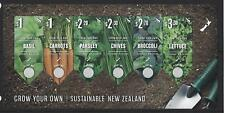NEW ZEALAND 2017 GROW YOUR OWN (VEGETABLES) MINIATURE SHEET UNMOUNTED MINT, MNH
