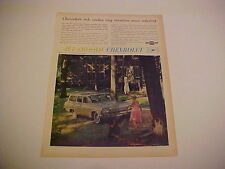 1962 Chevrolet Bel Air station wagon--full-color LARGE vintage 62 ad from estate