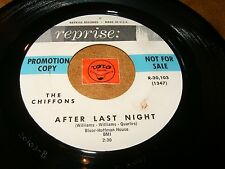 THE CHIFFONS - AFTER LAST NIGHT - DOCTOR OF HEARTS / LISTEN - GIRL GROUP POPCORN