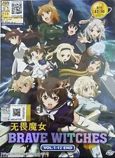 DVD ANIME BRAVE WITCHES ( VOL. 1-12 END ) COMPLETE BOX SET + FREE SHIPPING