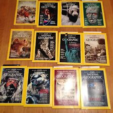 1986 National Geographic Magazine With Maps Complete Year 12 Issues