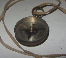 Ancienne Boussole XIX eme en Laiton + Verre Biseauté compass H. Houlliot 1915