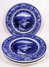 3 Lamberton Baltimore & Ohio Bread Plates B&O 1927 Centennial Railroad Vintage