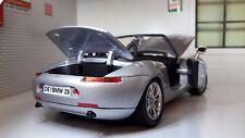 G LGB 1:24 Scala BMW Z8 Z07 ARGENTO Cabrio molto dettagliato modello 73257 1999