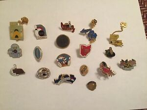 WIBC Bowling Lapel Hat Pins Women's Lot Of 18 Assorted