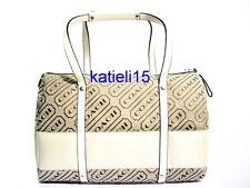 Coach Logo Stripe Lozenge Large Satchel Handbag 12254 Retail $298
