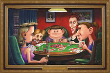 Dogs Playing Poker (Ugly Girls) Parody College Humor Poster 24x36 NEW