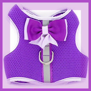 Top Paw Deep Purple & Lavender Comfort RefletivePadded Mesh Dog Harness XS