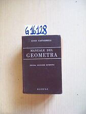 L. GASPARRELLI - MANUALE DEL GEOMETRA - HOEPLI - 1956