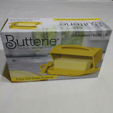 New Yellow Butterie Flip Top Soft Butter Dish For Countertop or Refrigerator