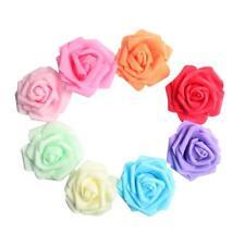 100 Pieces 8 CM Mulit-Colors DIY Real Touch 3D Faux Rose Head without Stem