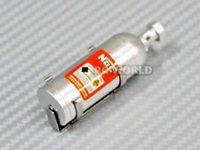 RC 1/10 Scale Accessories METAL NITROUS NOS BOTTLE W/ Holder + Hardware SILVER